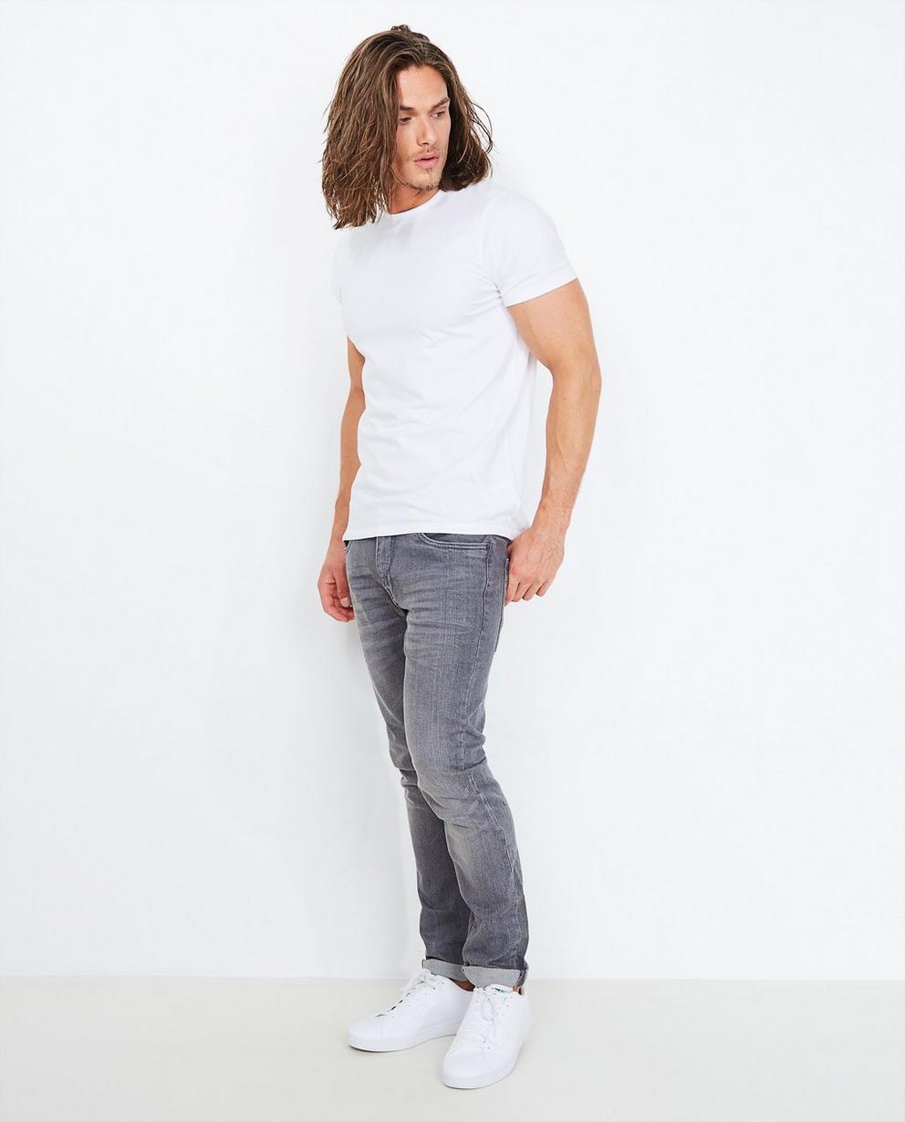 Jeans slim fit gris - délavé - Quarterback